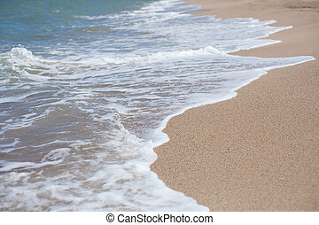 Sand beach water background