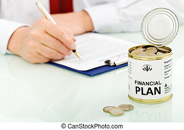 concetto, finanziario, piano