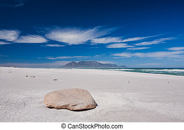 Big Bay - A rock that leads the eye in to Table Mountain