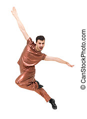 Young modern dancer showing some movements