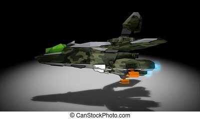 Space fighter - Futuristic space super fighter, camouflaged,...