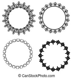 A set of round frames with ornament