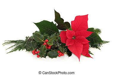 Poinsettia Flower Decoration - Christmas poinsettia flower...