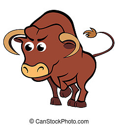 Child taurus - Cartoon illustration of taurus zodiac sign