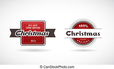Set of Christmas labels.