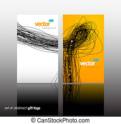 Set of gift card with lines.