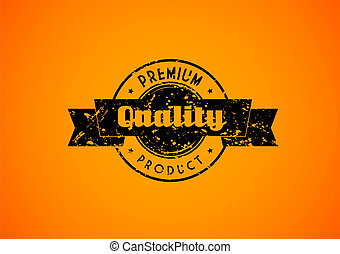 Old used quality badge for your product.