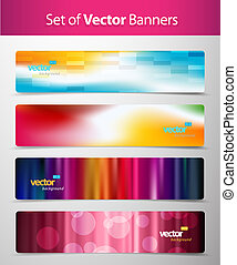 Set of abstract colorful web headers.