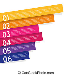 Colorful labels with place for your message.