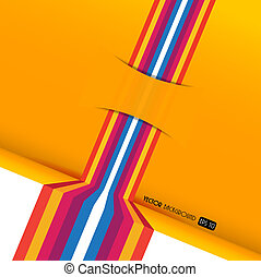 Abstract colored stripes with place for own text