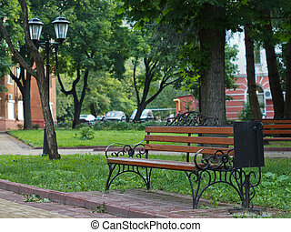 bench - The image of bench on the boulevard