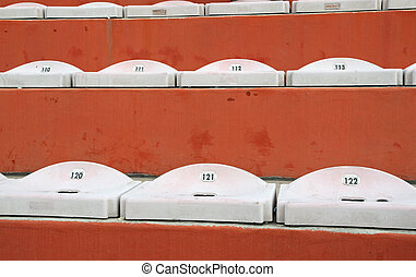 empty seats in the stands of the stadium after the game football