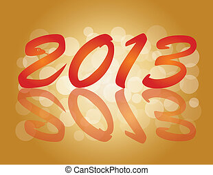 2013 Chinese New Year Snake Numbers Illustration - 2013...