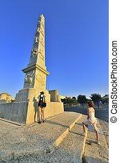 di,  lecce,  Napoli,  -,  porta,  obelisco