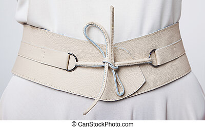 Stylish woman s beige belt with lace - Fashion Womens beige...