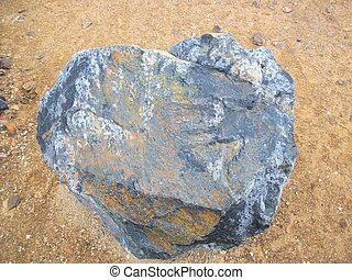 Iron Ore Rock - Iron ore rock in the middle of nowhere,...