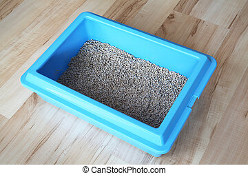 Litter box - Blue cat litter box