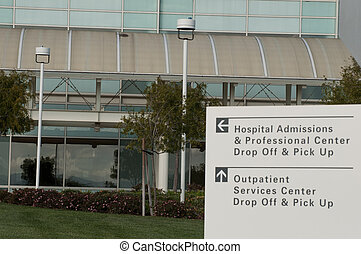admission sign at hospital - Admission and outpatient sign...