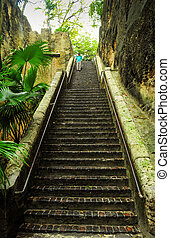 Man on Queen's staircase,Bahamas