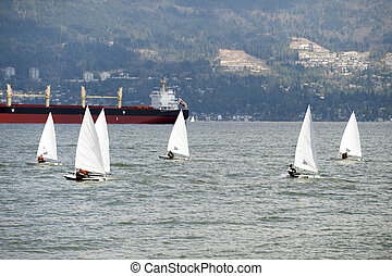 Sailing on the sea by Vancouver