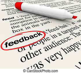 Feedback Circled Word Definition Dictionary - The word...