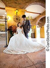 couples wedding indoor