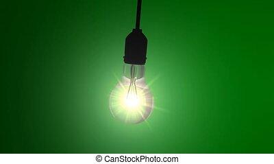 Swinging bulb