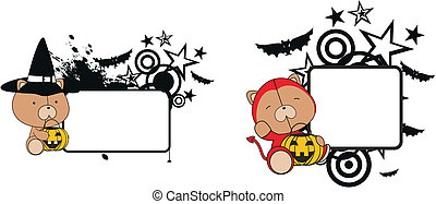 teddy bear halloween copyspace in vector format very easy to...