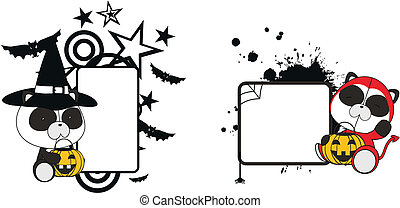 panda bear halloween copyspace in vector format very easy to...
