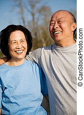 Senior asian couple - A shot of a senior asian couple having...