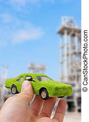 Hand Holding Eco Car Icon - and holding eco car icon, save...