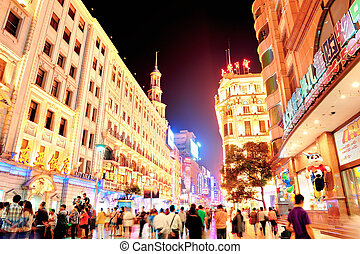 Nanjing Road in Shanghai - SHANGHAI, CHINA - MAY 28: Nanjing...
