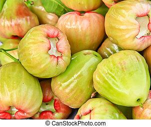 verde, rosa, manzanas