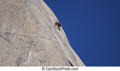 Rock climber - close-up view
