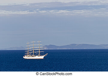 Sailing vessel - The sailing vessel costs on raid after long...
