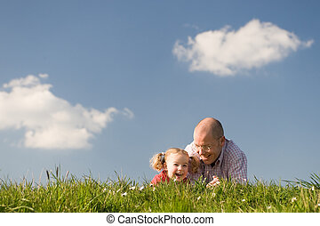Happy father with daughter