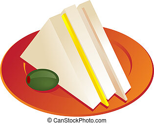 Sandwich illustration - Ham and cheese sandwich illustration...