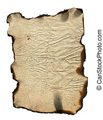 Grunge paper with charred edges - background