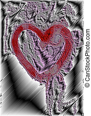 carved heart - carved heart - symbol of love