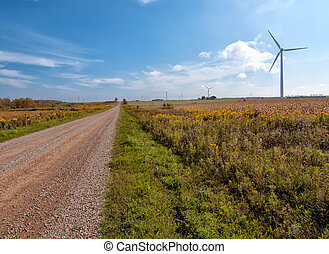 Long Road to Sustainable Energy - Photo shows a long road on...