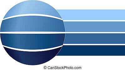 Blue blank business diagram, vector illustration