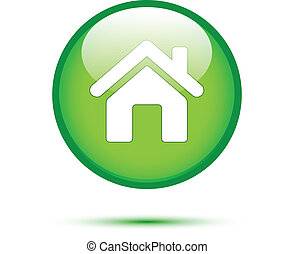 Home icon on green button