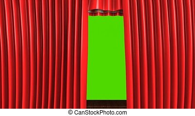 Theater stage - 3d animation, Classic theater stage, with...