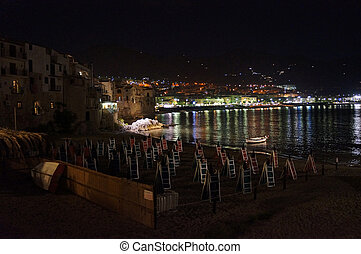 the waterfront of Cefalu' in Sicily