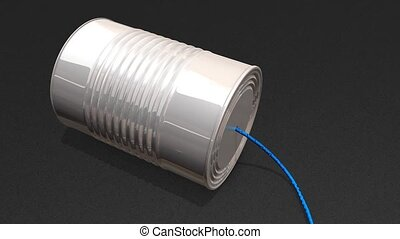 Tin can phone.
