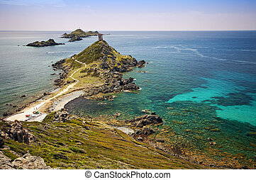 Sanguinaires island - The sanguinaires islands in Corsica -...