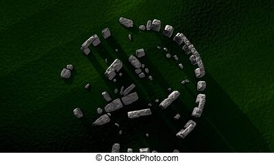 Stonehenge - Artist recreation of Stonehenge ruin.