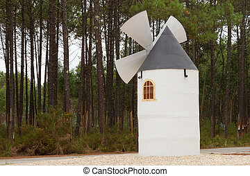 Small sized windmill built for decoration
