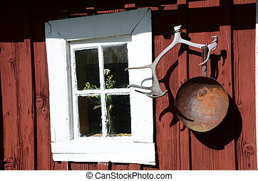 Old window - Cottage with old window