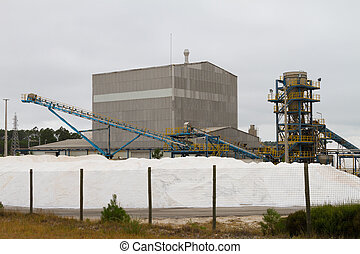 Modern salt refinery machinery details in Portugal